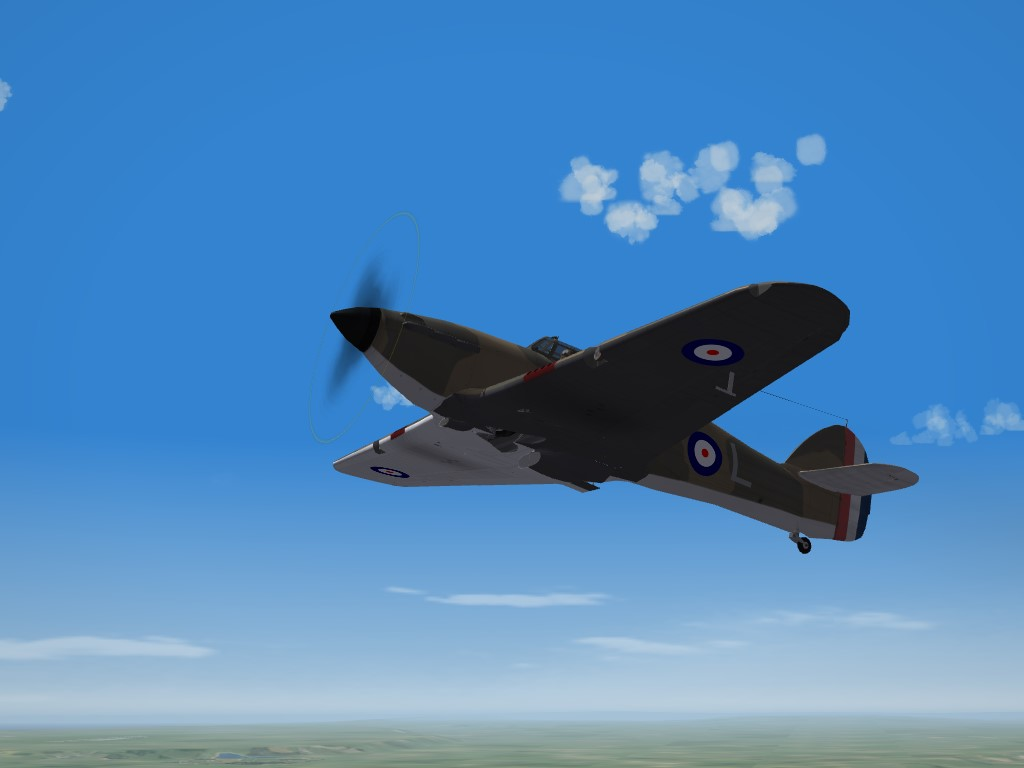 SF2 WW2 Hawker Hurricane Mk.I No.1 Squadron, BoF, Skin Pak