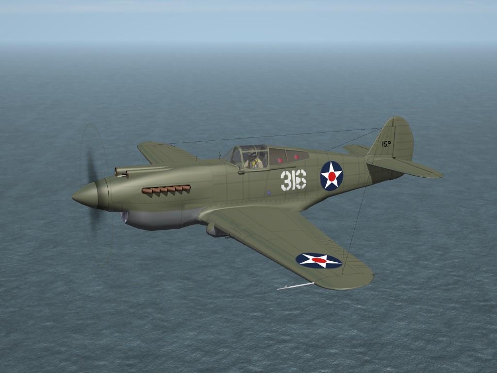 SF2 WW2 PTO P-40B/C Tomahawk (USAAC) Pack