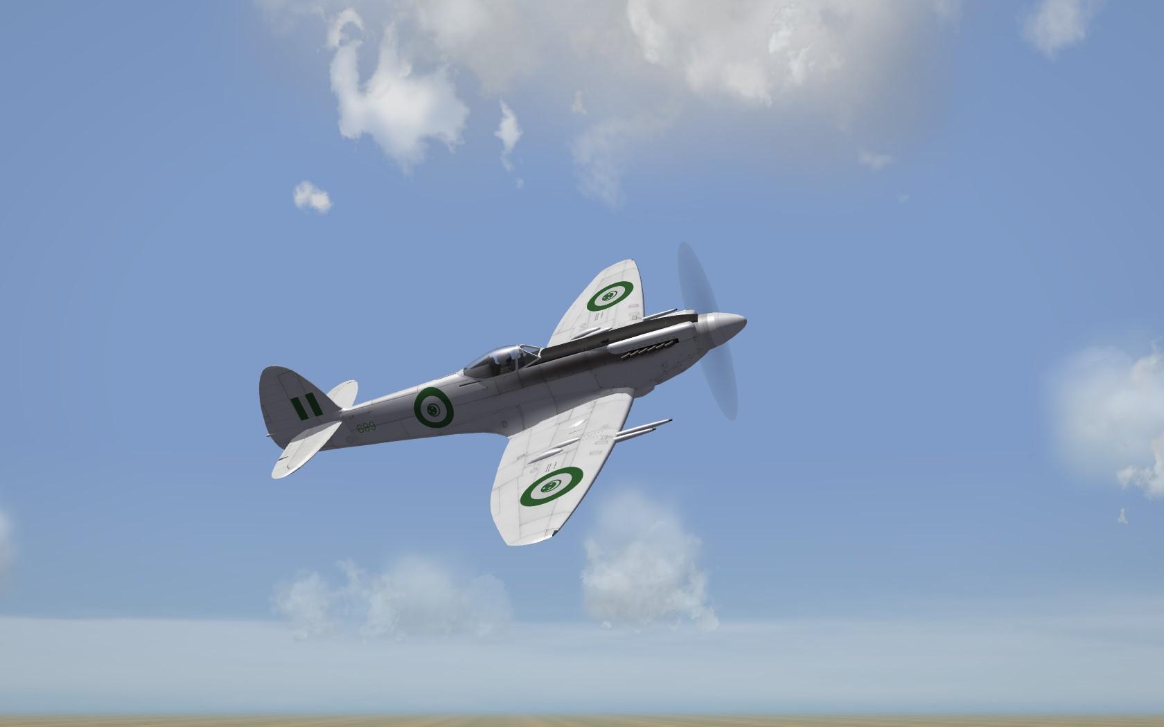 EAF Supermarine Spitfire F Mk 22 White DLC 29