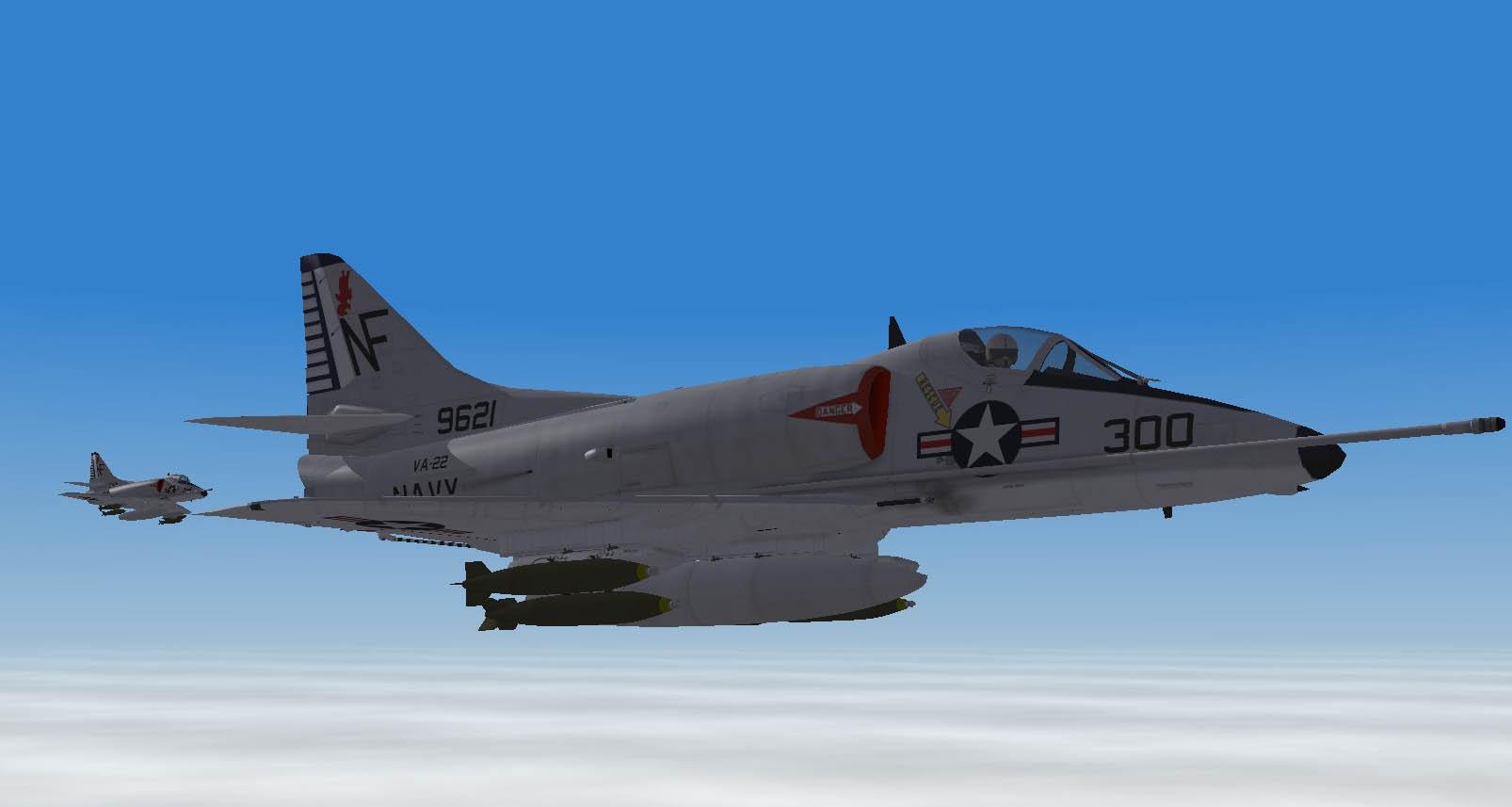 USN VA-22 Fighting Redcocks A-4C First combat tour(1965)