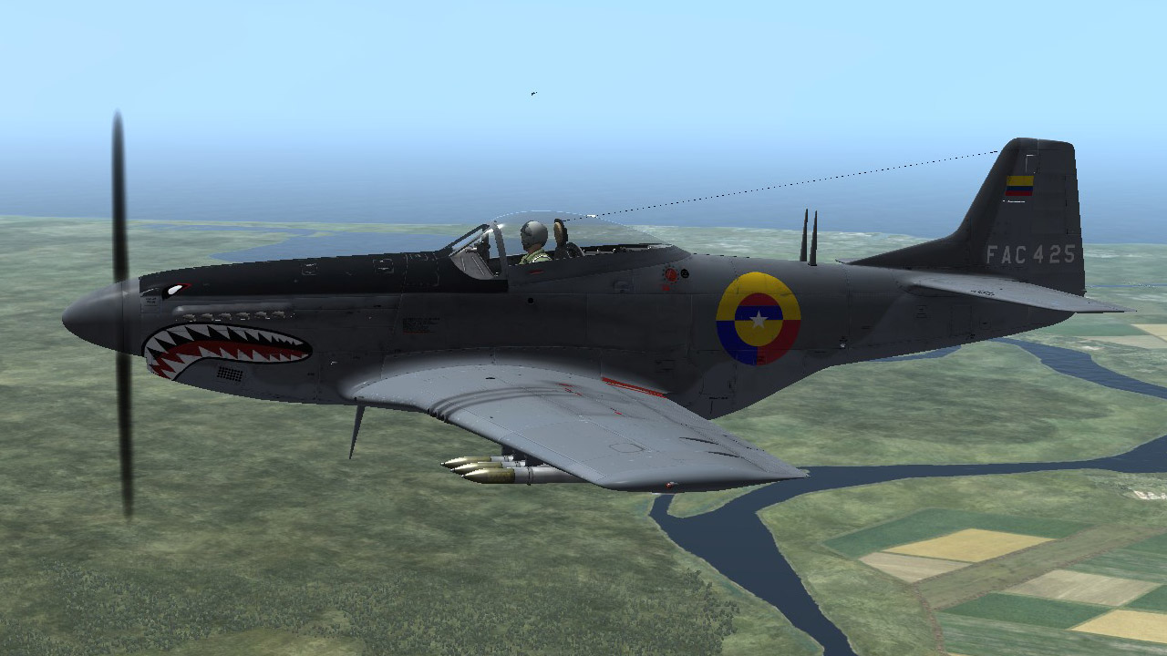 P-51D Colombian Air Force Skin Pack (Fictional)