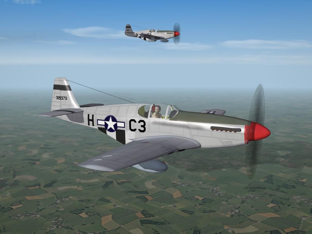 SF2 WW2 ETO, P-51C Mustang, 382nd FS Skin Pak