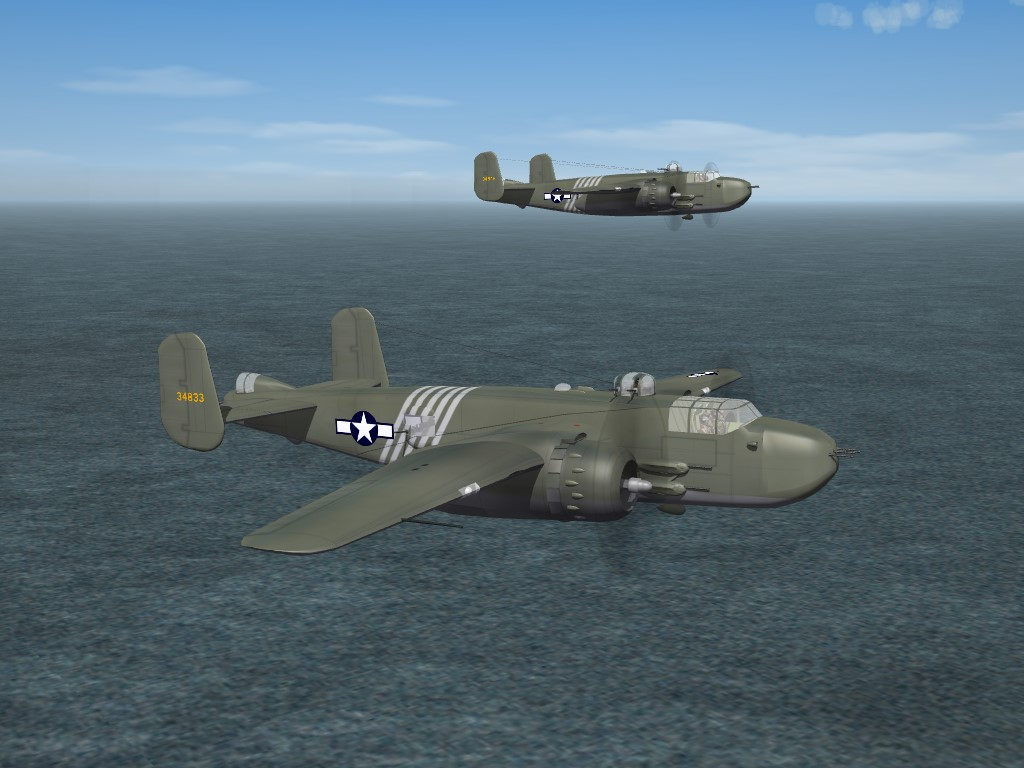 SF2 WW2 B-25H Mitchell, 1st Air Commando Group Skin Pak