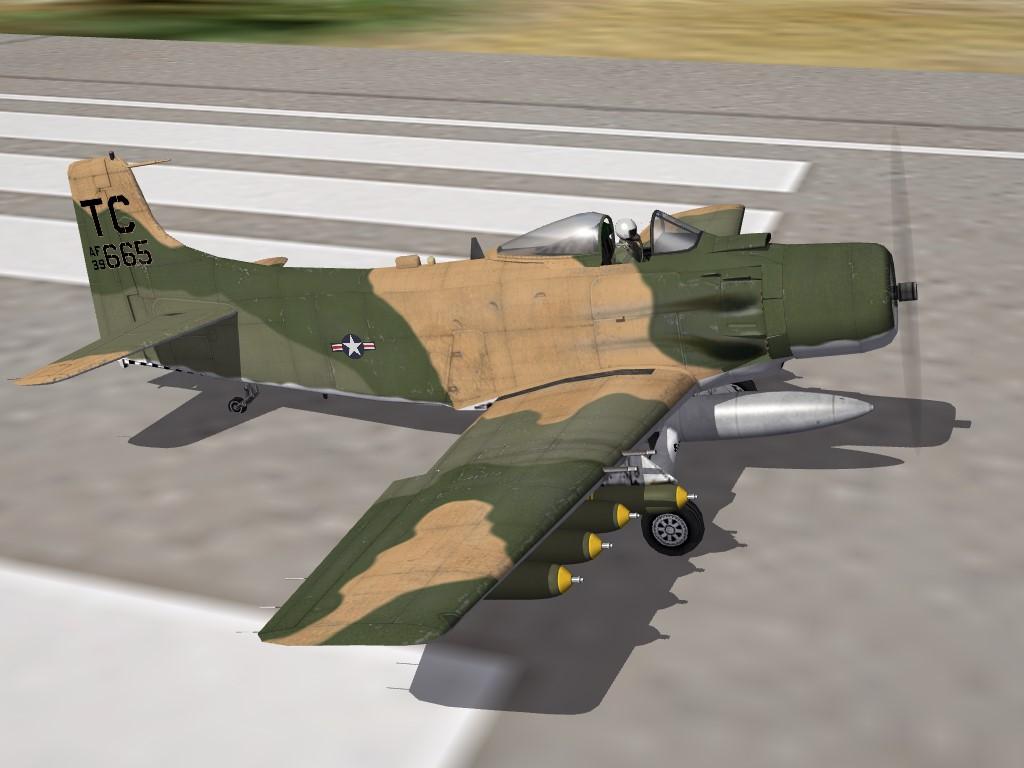 SF2:V USAF A-1H Skyraider, MPPD Skin Remod Pak