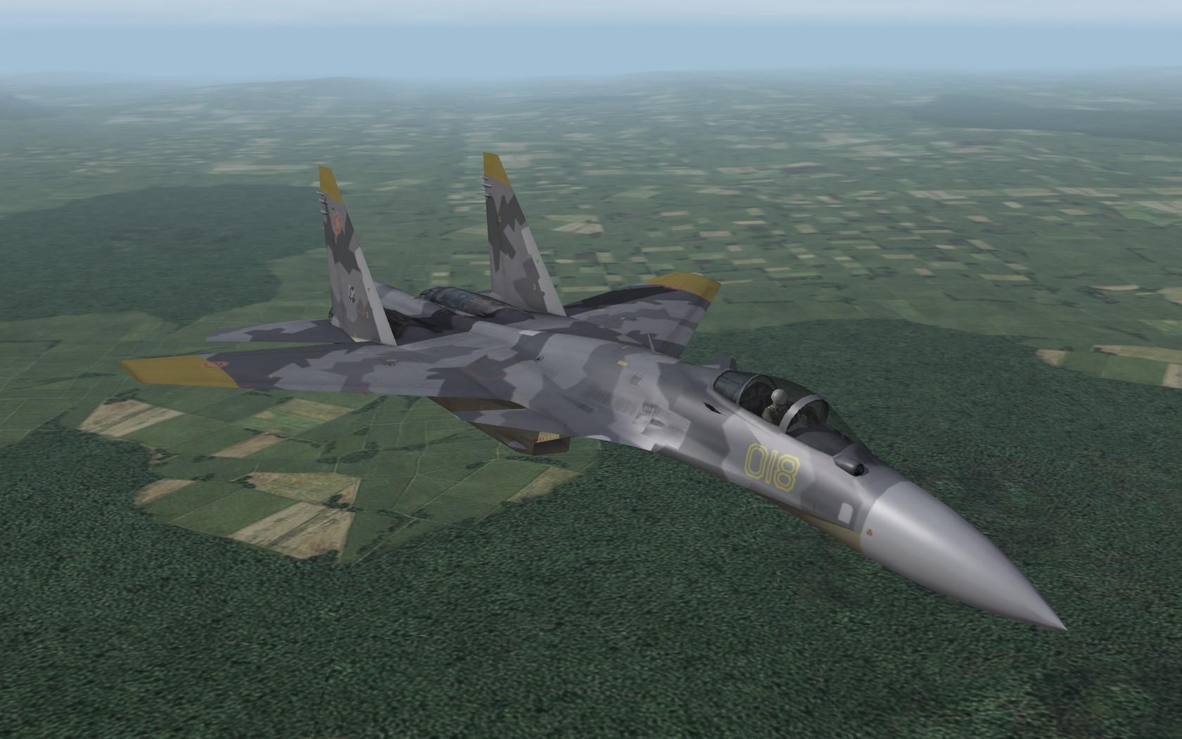 Su-37 Yellow Squadron skinpack - Thirdwire: Strike Fighters