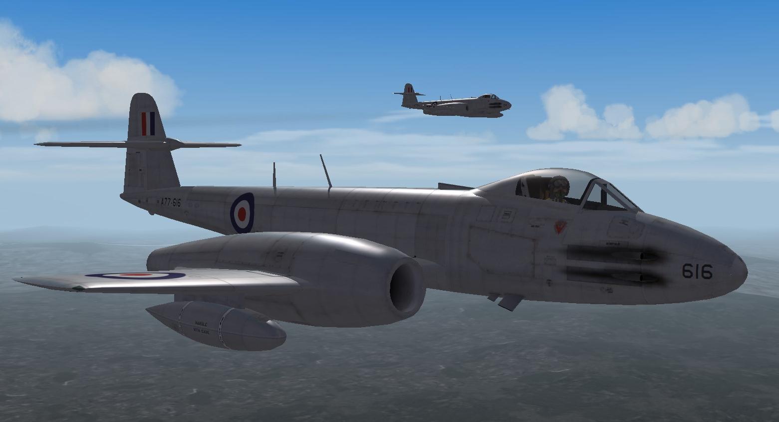 RAAF No.77 Sqn Meteor F8 Korean War(Aug 1951)