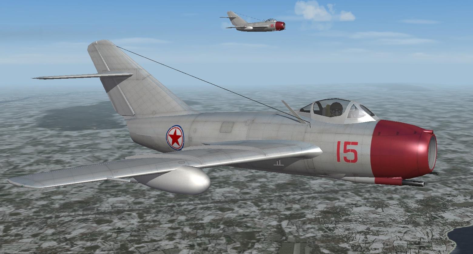 PLAAF 10th Regiment MiG-15 Korean War(Dec 1950)