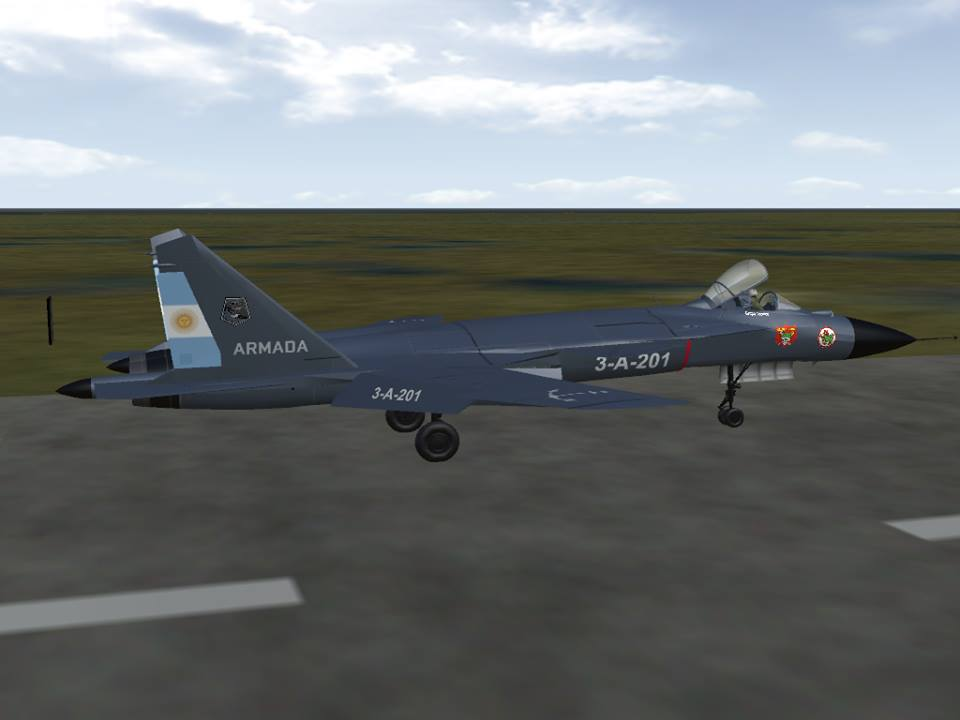 Su-47 Skin Armada Argentina
