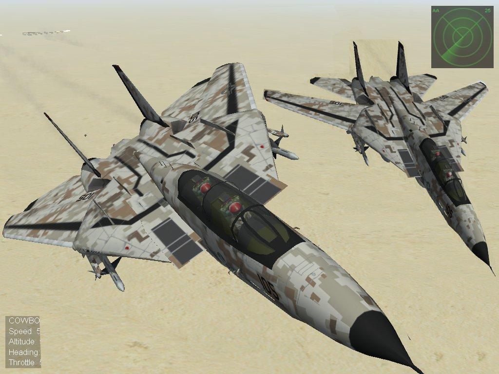 F-14a Digital Desart camo VM-41 black Aces