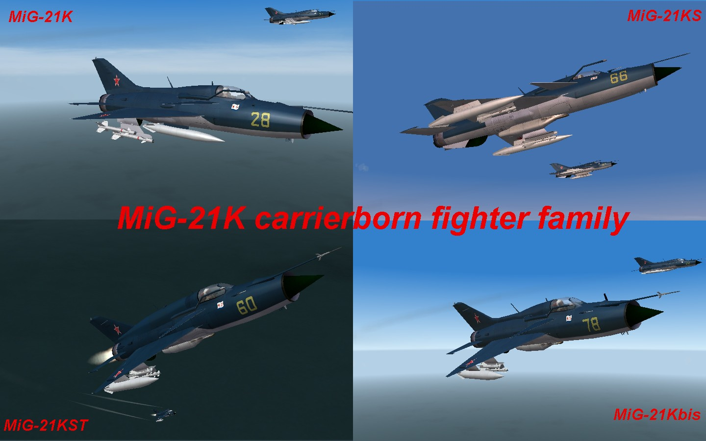 MiG-21K carrierborn fighter family