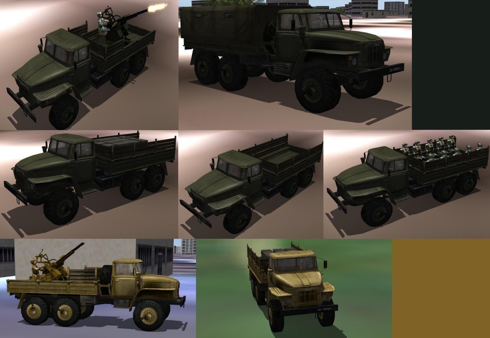 Ural-375 Trucks For SF2 Series
