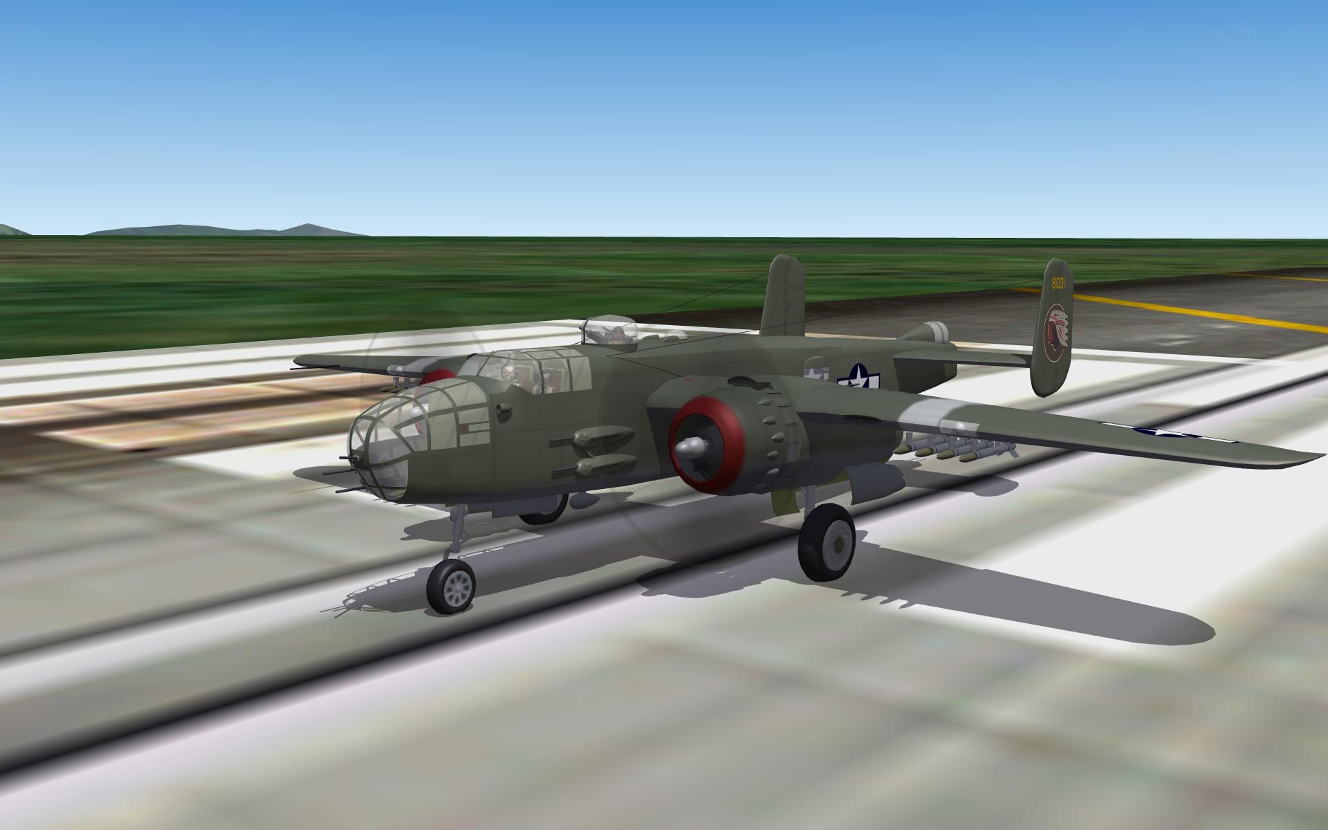 PTO B-25J Mitchell Bomber Pak