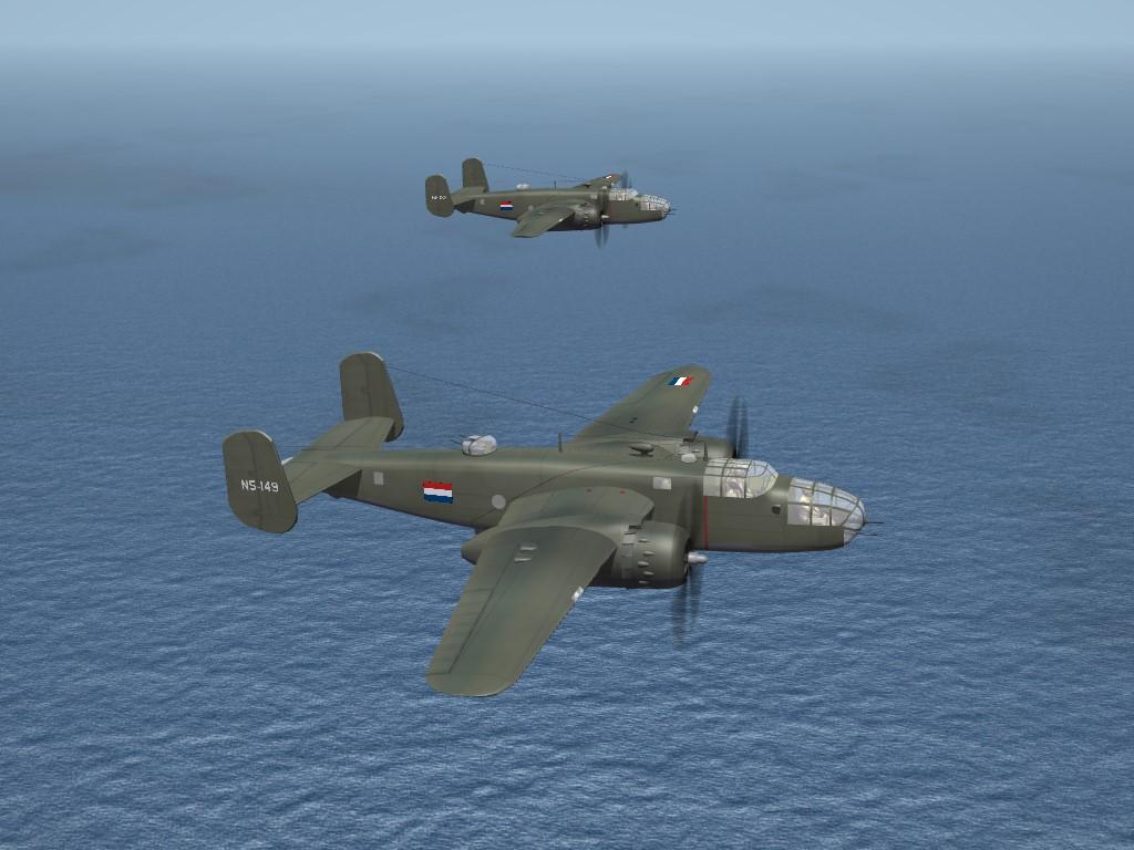 SF2 WW2 PTO B-25C Mitchell, No 18 Squadron (NEI)