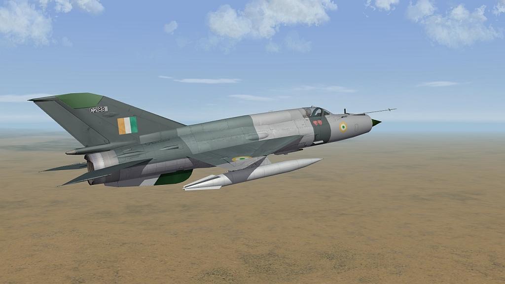 Tri-Grey IAF MiG-21bis Type 75 skin