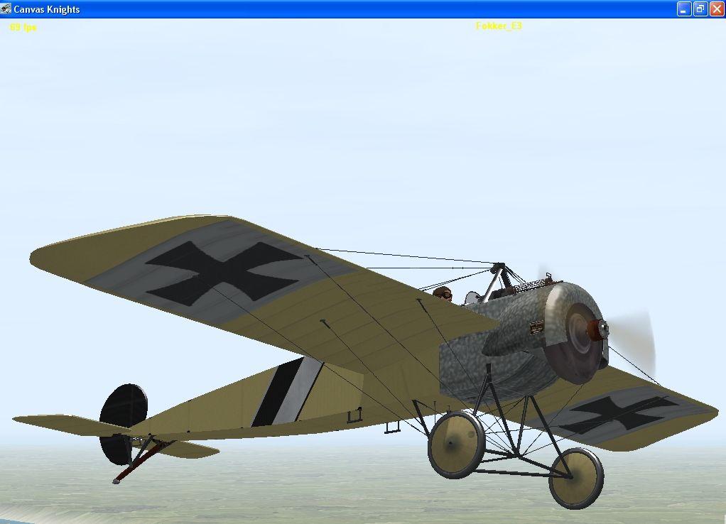Moranes N vr Fokker Eindekkers
