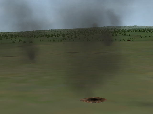 Smoking Craters for Battlefields