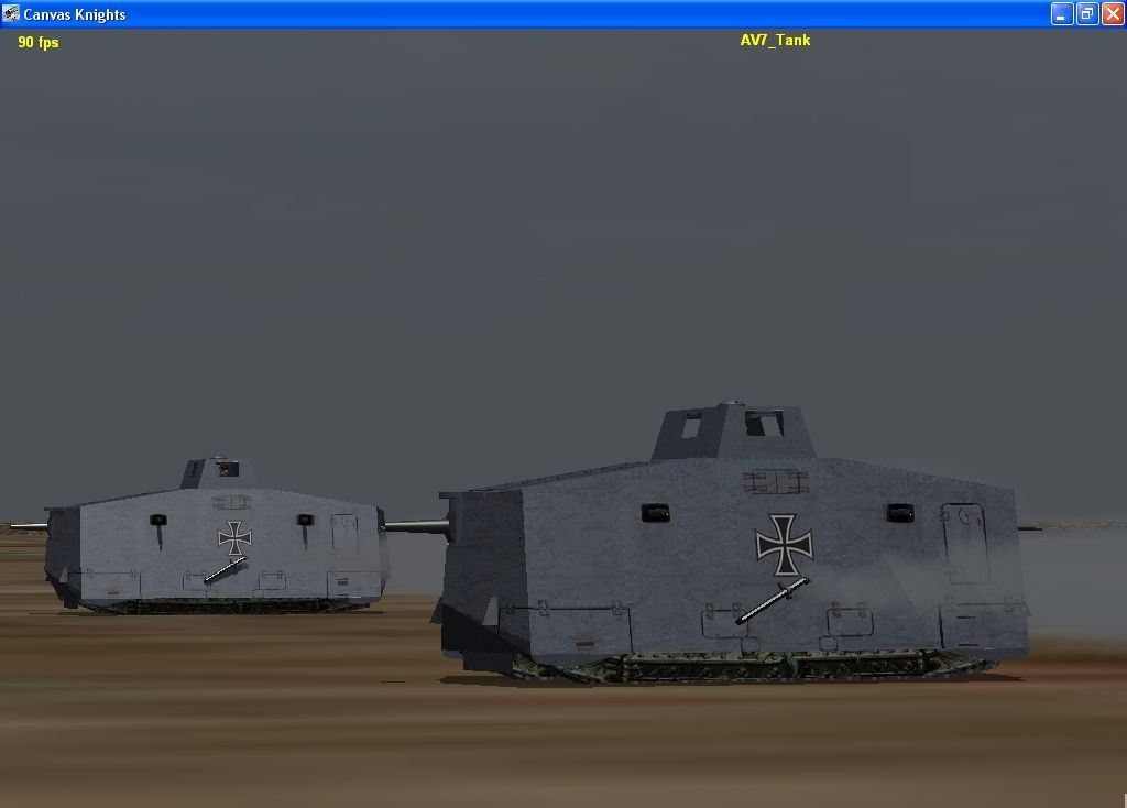 Tank Battles in Canvas Knights