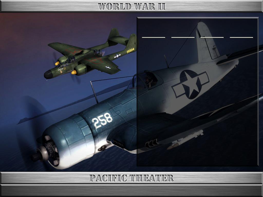 StrikeFighter2 World War II PTO Hi-Res Alternate 1024x768 Menu Screens and Music!