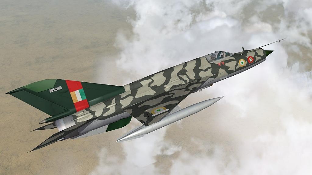 "No.32 Sqdn ""Thunderbirds"" IAF MiG-21bis Type 75 skin Pack"