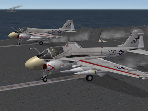 Gull Grey A-6 Intruder Skin for Third-Wire model V1.1