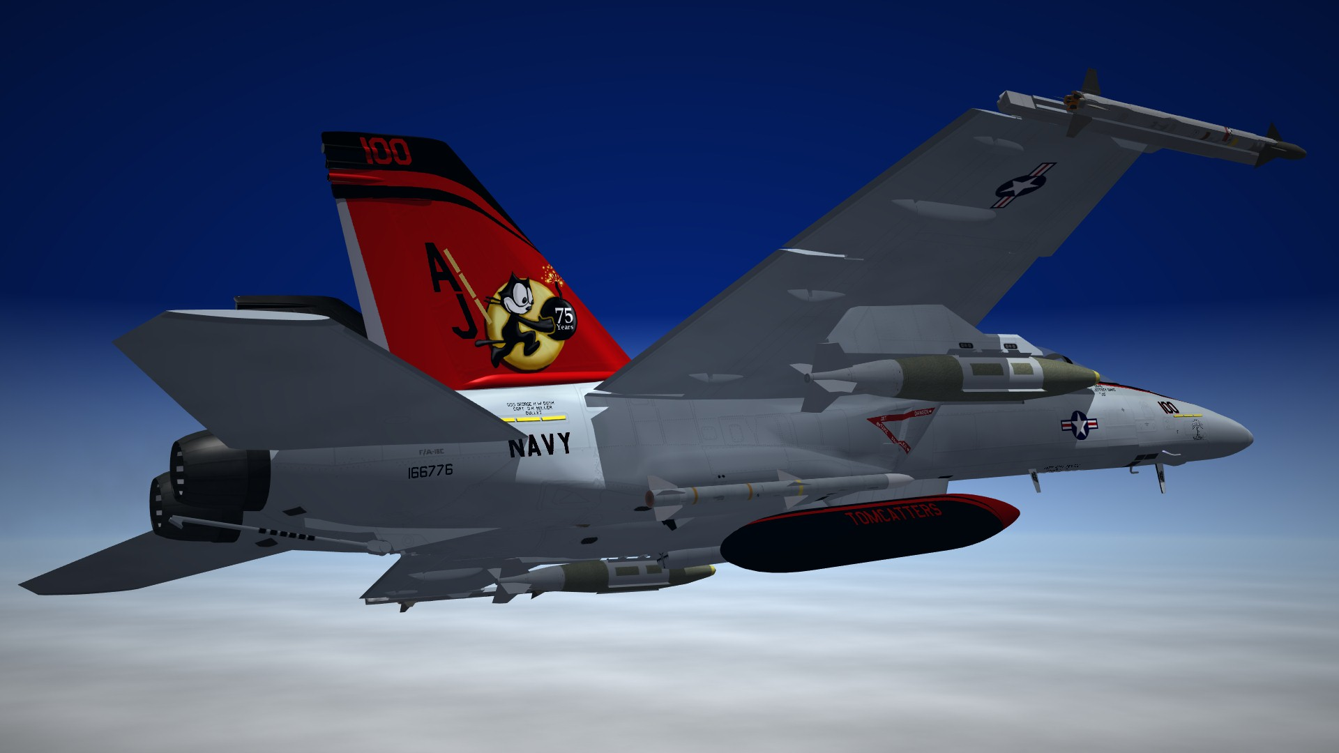 SF2 F/A-18E Super Hornet VFA-31 Tomcatters 75th ANNIVERSARY EDITION (HD)