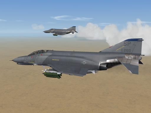 Generic Hill Scheme F-4E+F-4G Phantom II Skin for TW+MF model