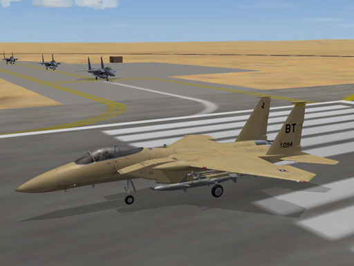 Sand/Desert F-15a Skin (fictional) for third-wire model
