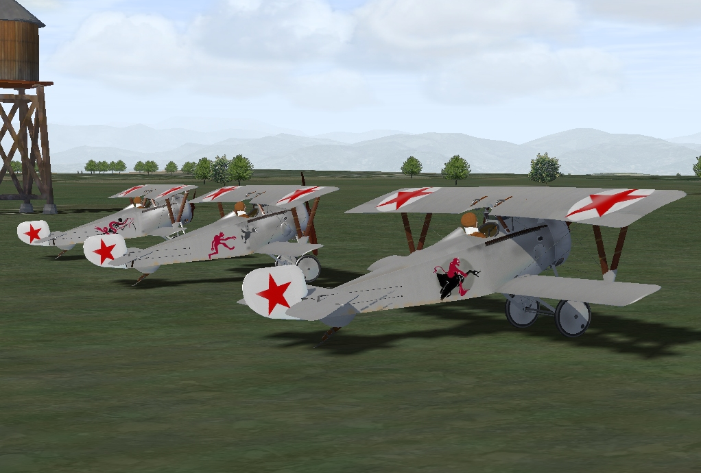 Nieuport 17 Red Army Skin Pack
