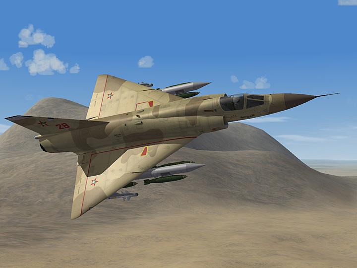 Mercenary Sand Skin for Mirage IIIE (fictional)