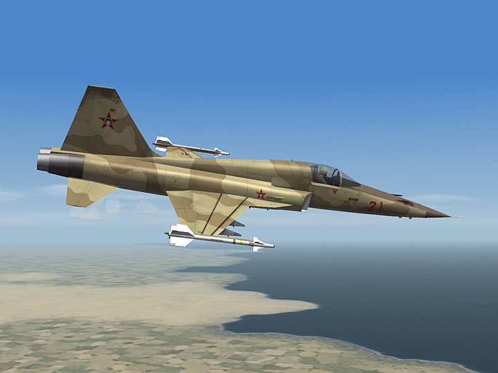 Mercenary Sand Skin for F-5E Tiger II (fictional)