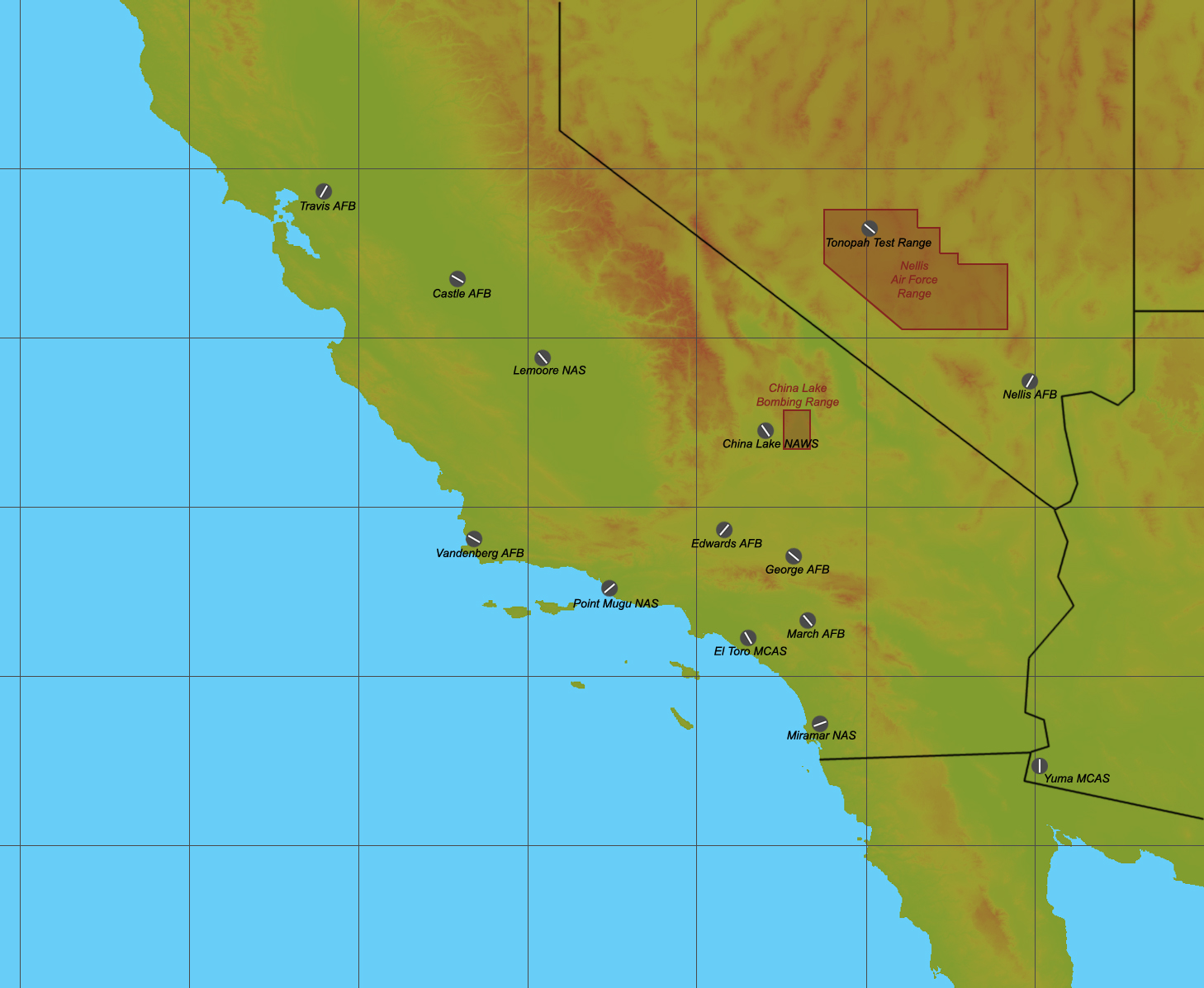 Southwest United States for SF2
