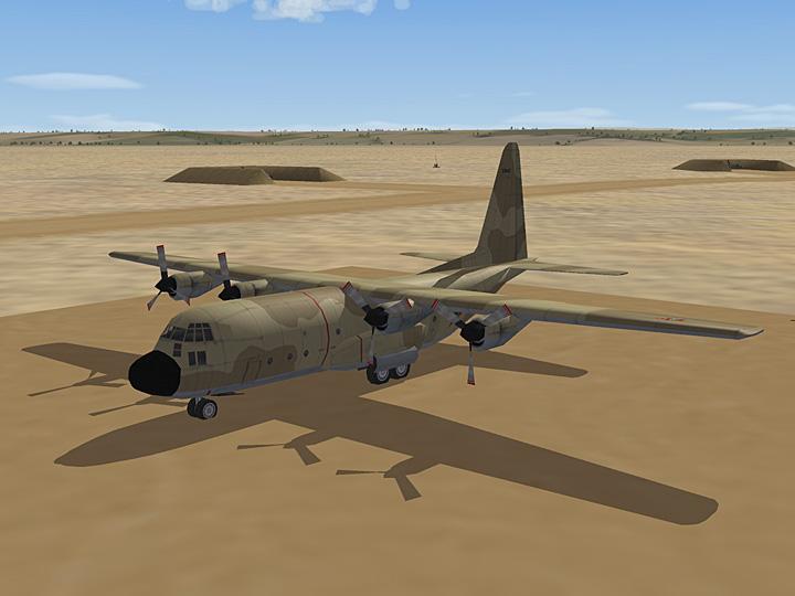 Mercenary Sand Skin for C-130A Hercules (fictional)
