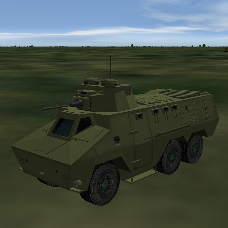 """""""Ratel"""" armoured carrier."""