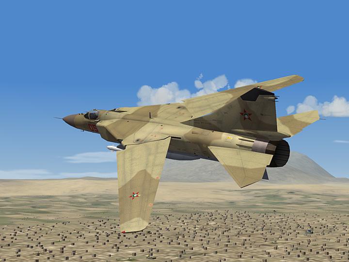 Mercenary Sand Skin for MiG-23 Flogger Series (fictional)