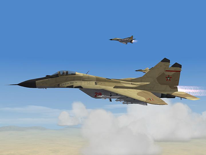 Mercenary Sand Skin for MiG-29A Fulcrum (fictional