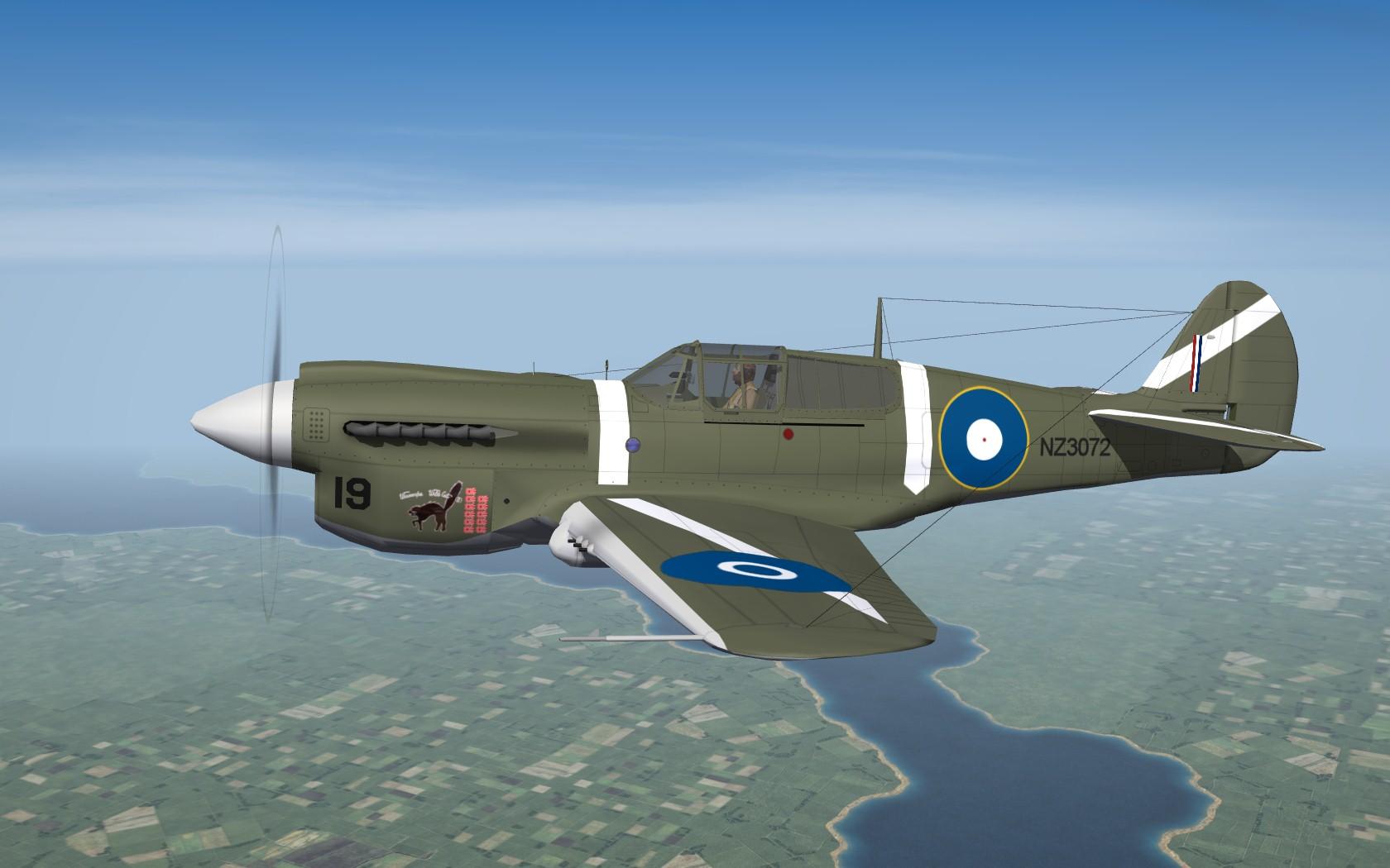 SF2 WW2 PTO RNZAF P-40E/K/M/N Kittyhawk Pack