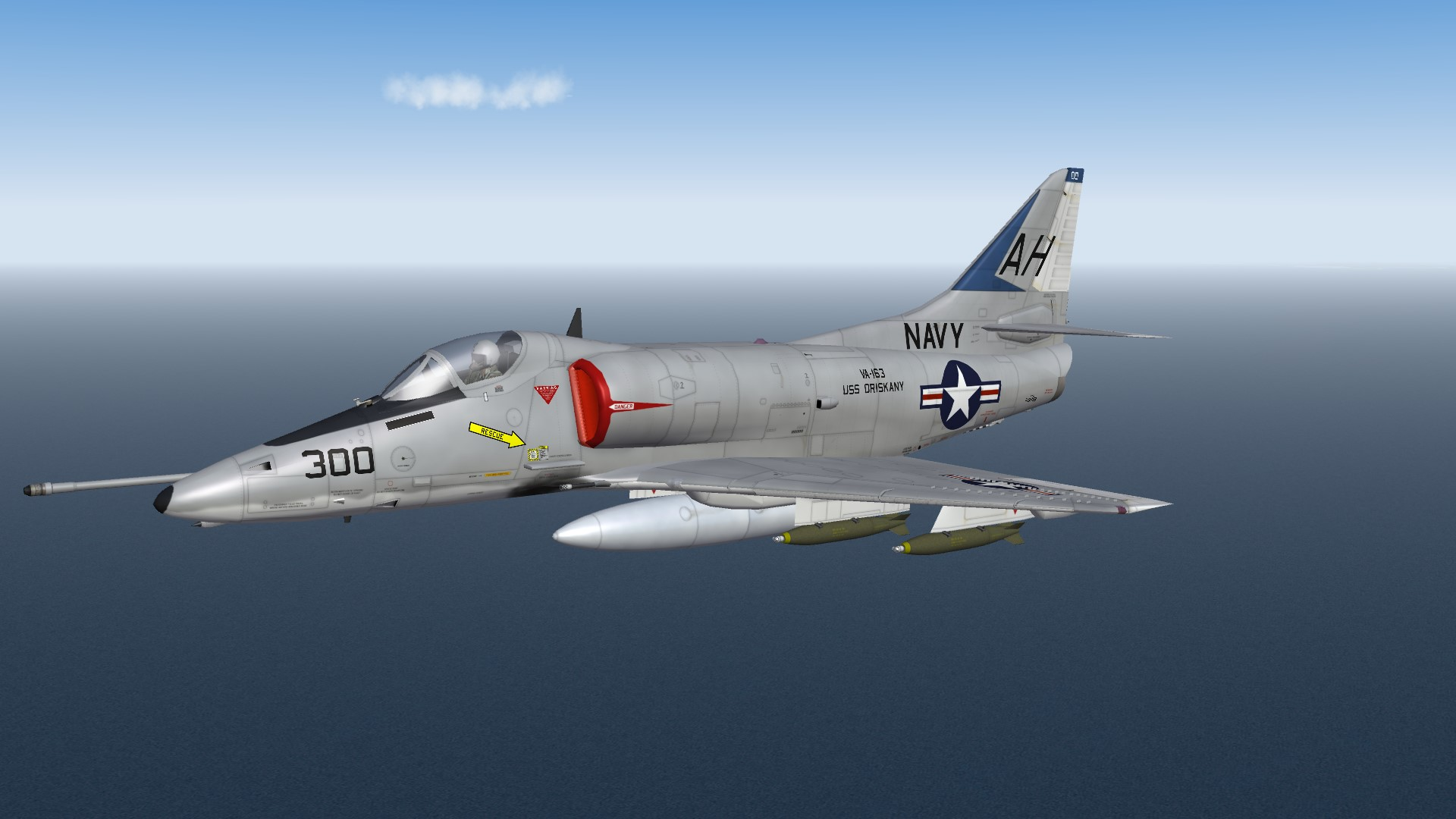 SF2 A-4E(65) VA-163 'Saints' 1967