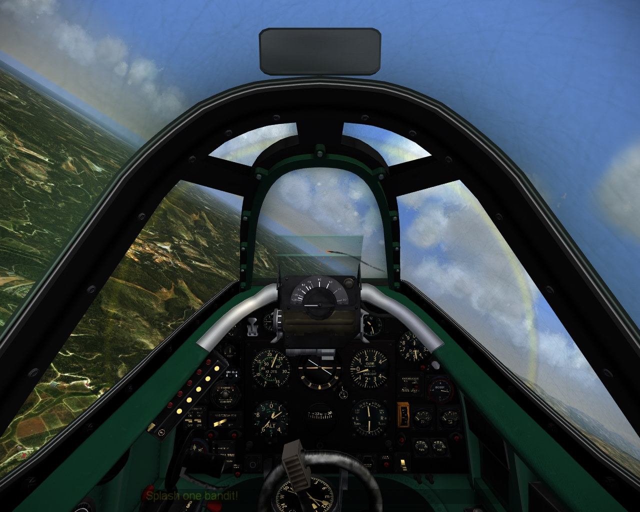 Spitfire cockpit (late Griffon powered, F Mk 45 based)