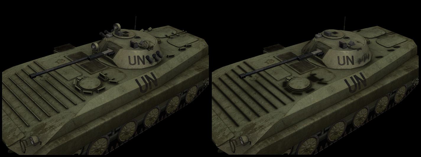 Upgrade to BMP-2 vehicle : low poly LODs