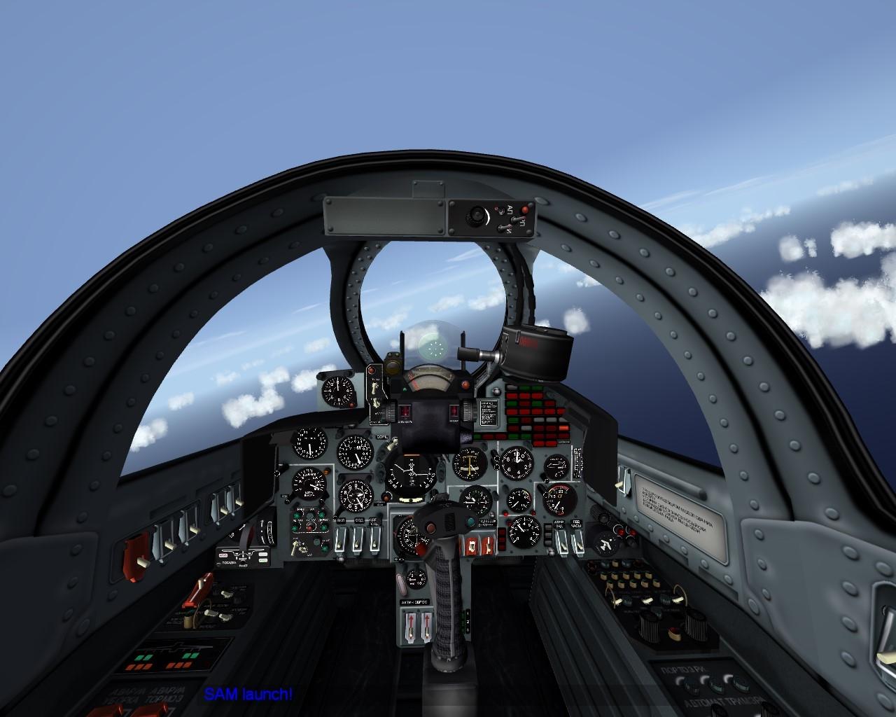 Yak-38 Forger cockpit - Thirdwire: Strike Fighters 2 Series