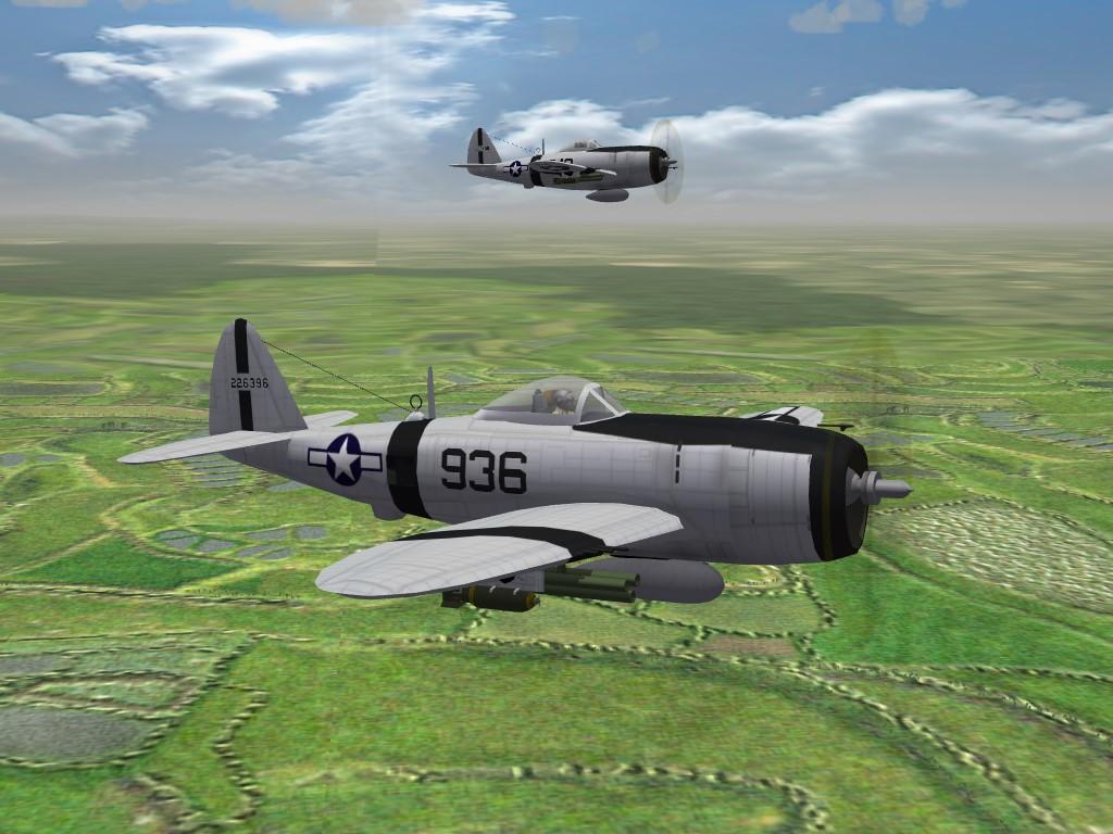 SF2 WW2 P-47D Bubbletop, 92st FS, CBI, Skin/Decal Pak