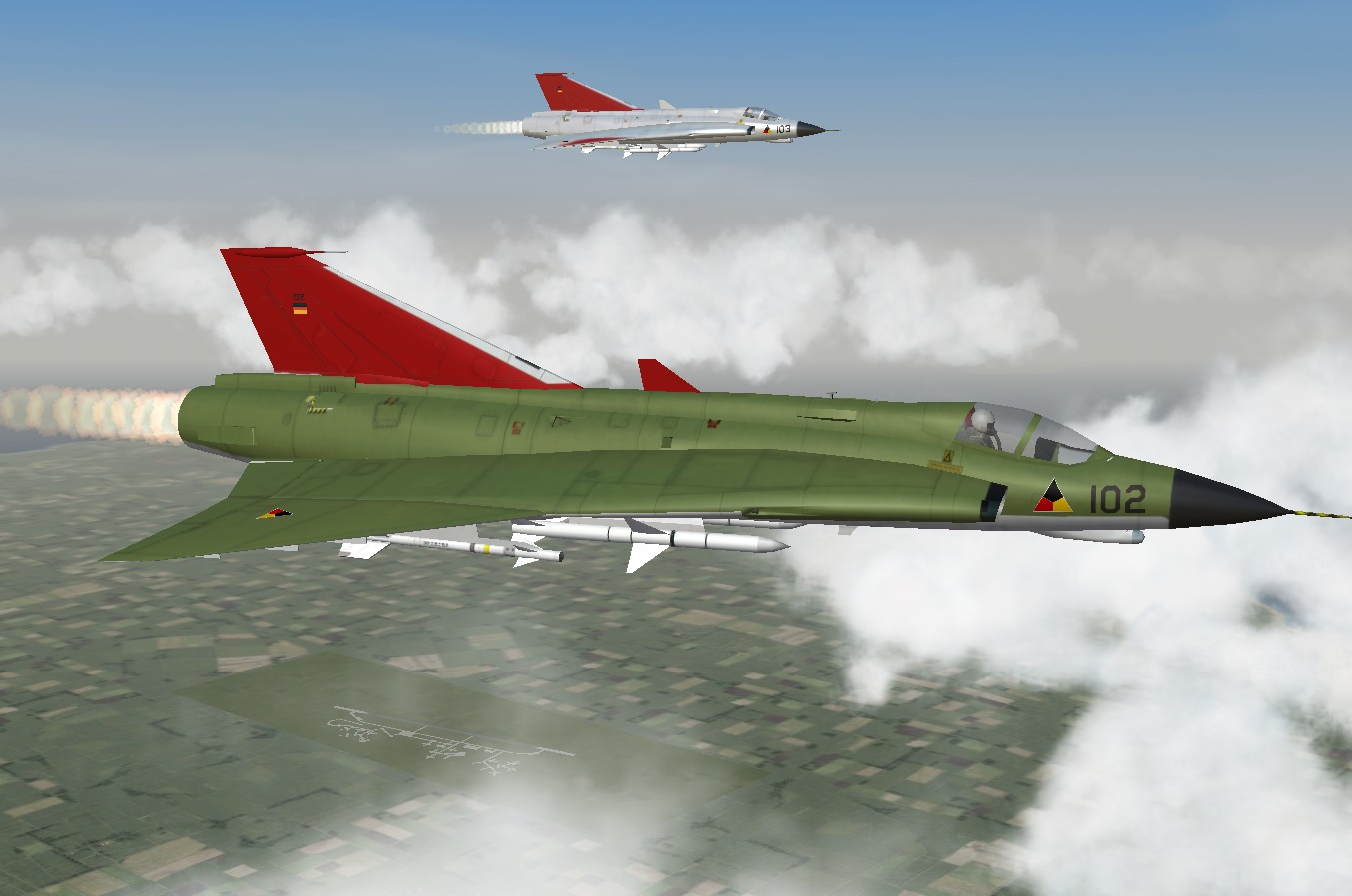 J-35 Draken german bottlegreen camo Skin
