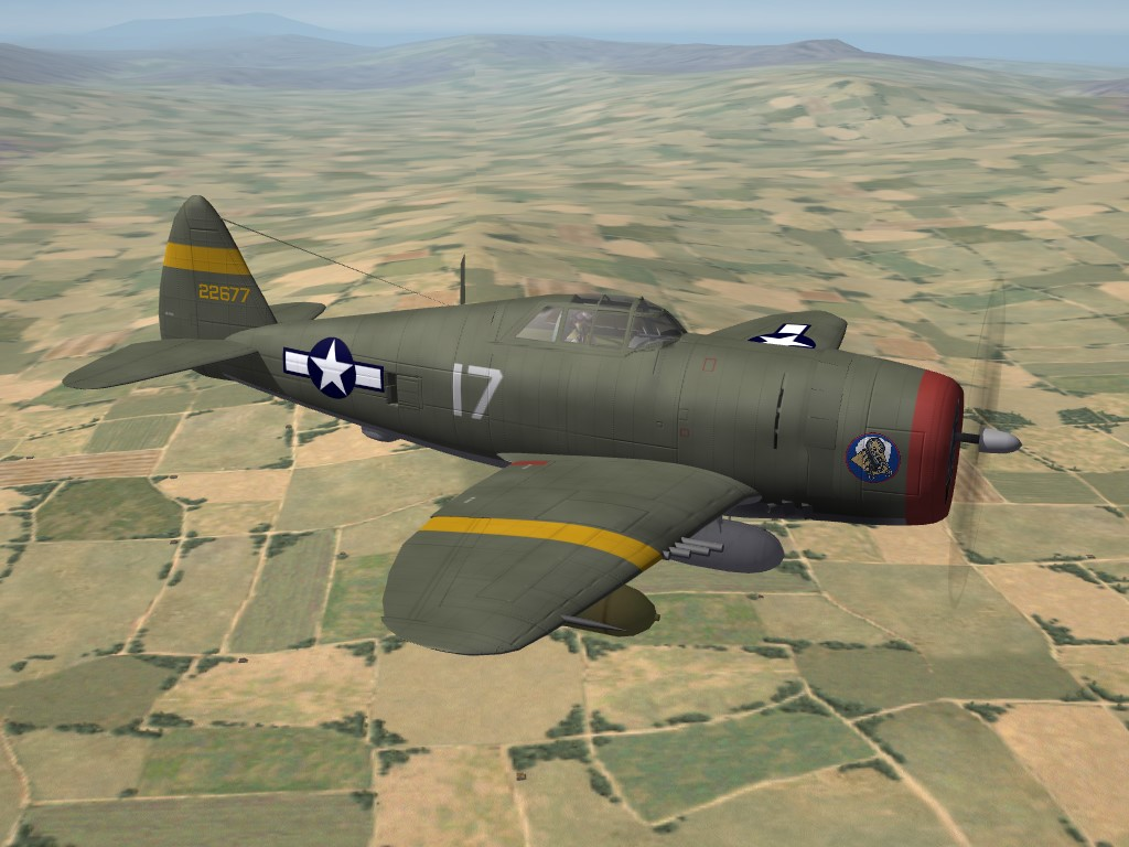 SF2 WW2 MTO P-47D Razorback, 64th FS Skins/Decals Pak