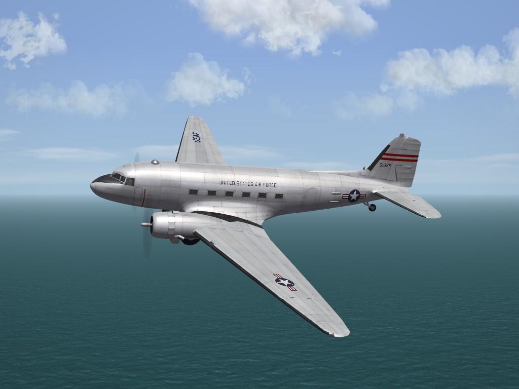 SF2 KAW Era C-47A 21st TCS SkinPak