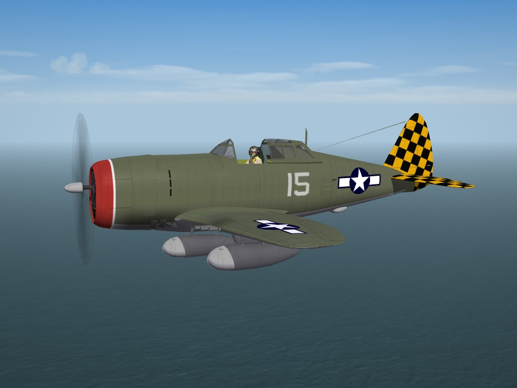 "SF2 WW2 MTO Republic P-47D ""Razorback"" Thunderbolt by Cocas"