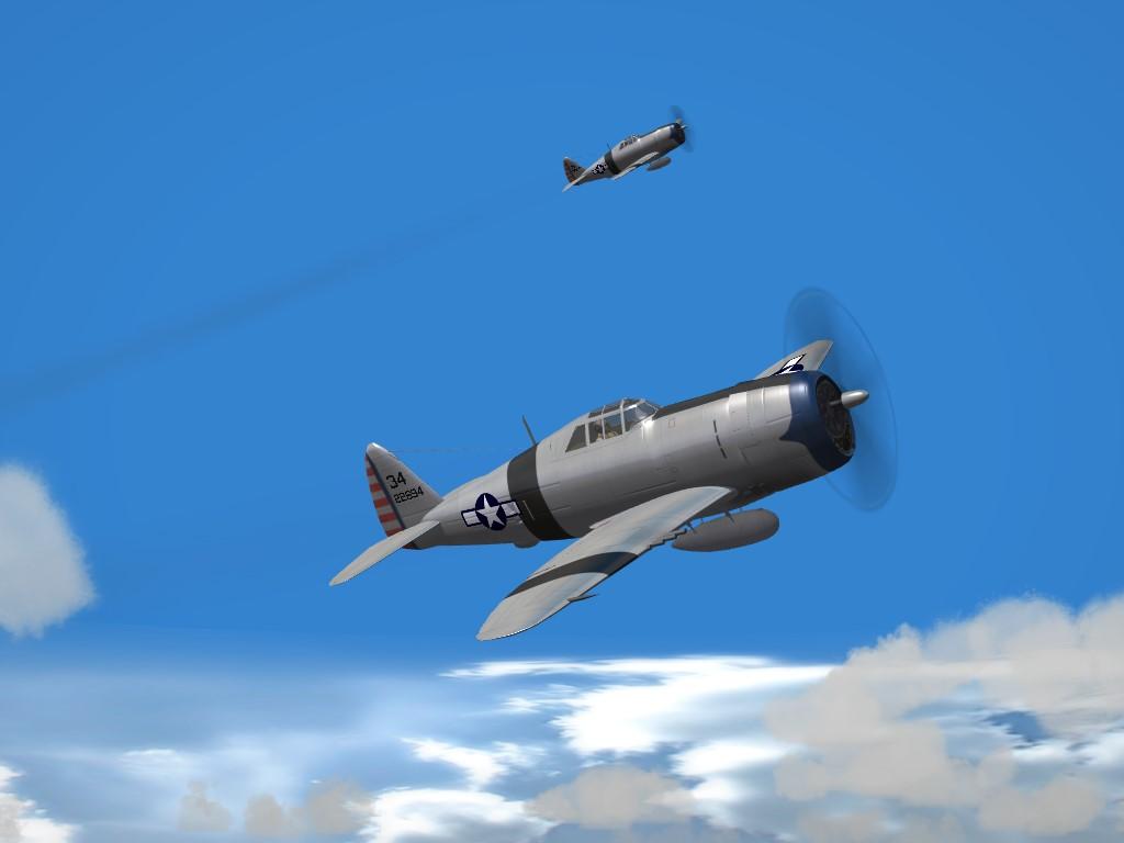 "SF2 WW2 , PTO 39th FS P-47D ""Razorback"" Thunderbolt Skin Pak"