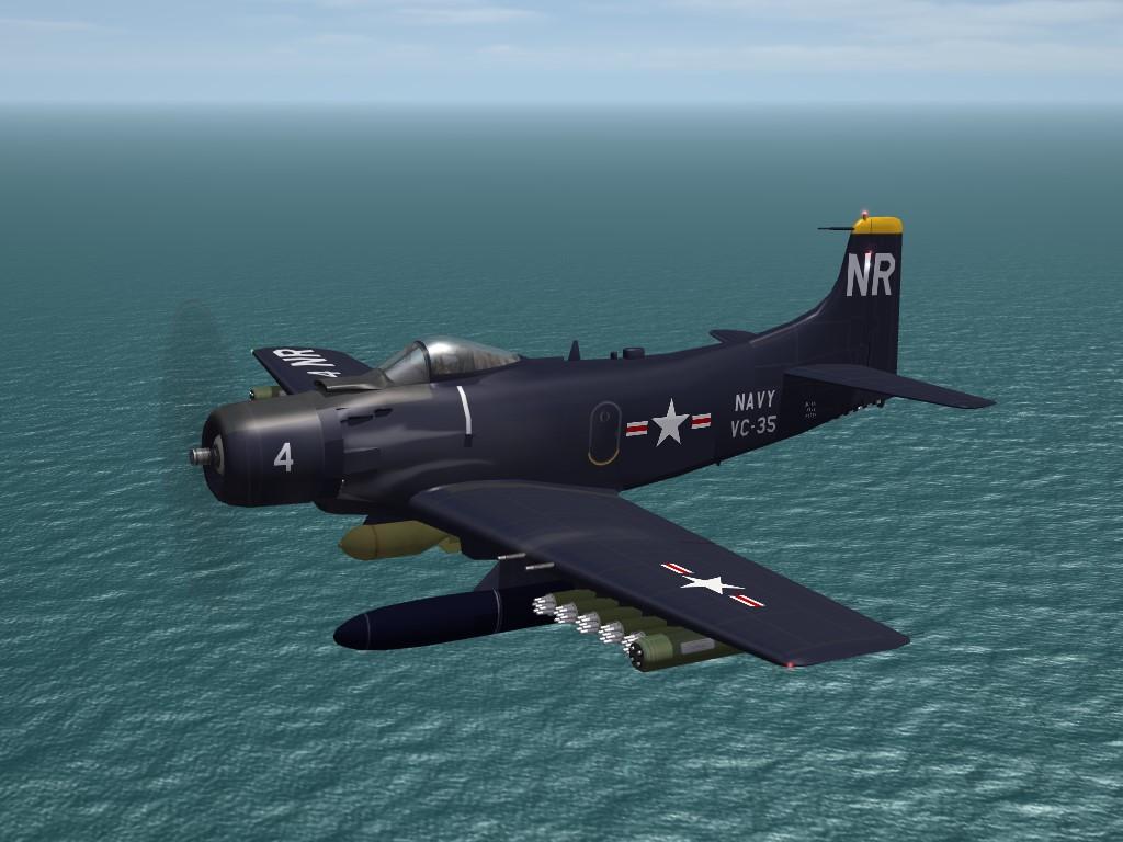 SF2 KAW AD-4NL Skyraider (3W)