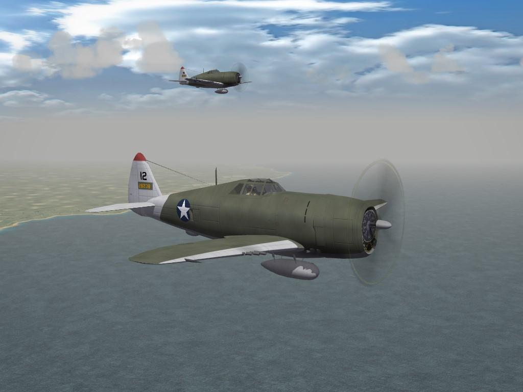 "SF2 WW2 PTO Republic P-47D ""Razorback"" Thunderbolt by Cocas"