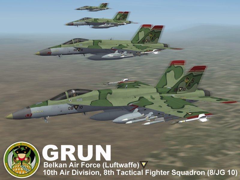 F/A-18E Grun Team (Ace Combat Zero)