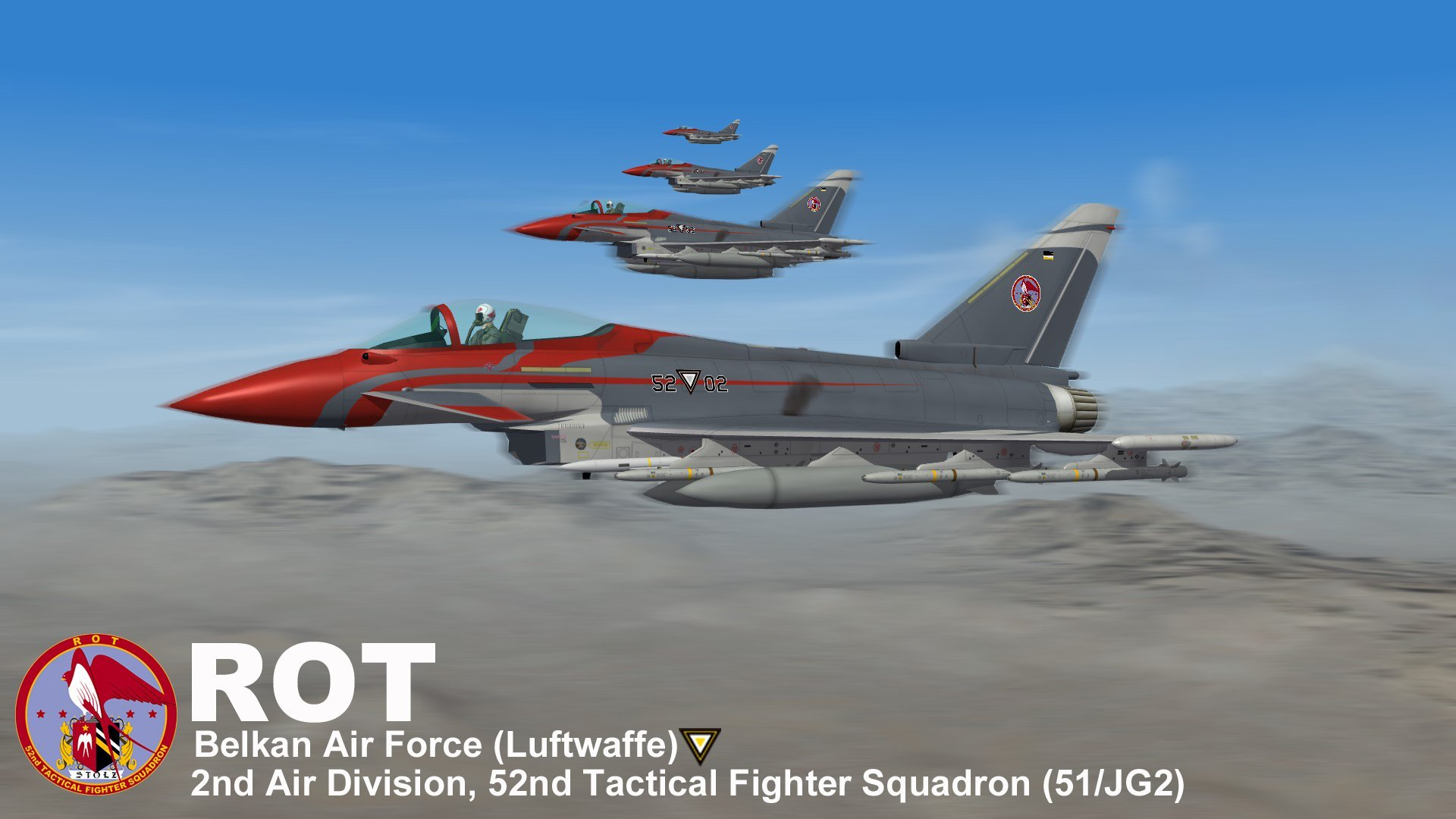 "Eurofighter-GmbH EF-2000 ""Typhoon"" Rot Team (Ace Combat Zero)"